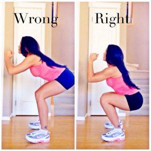 squat goed en fout