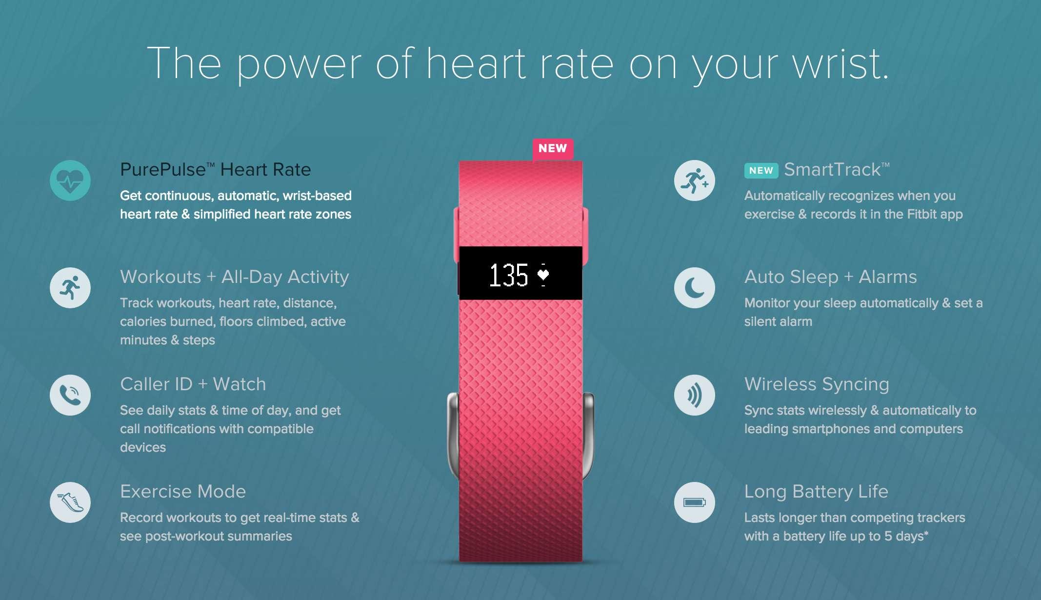 Fitbit HR website