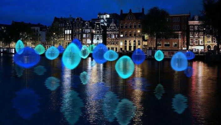 MMsup Amsterdam Light festival Paddle