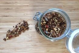 zelfgemaakte granola 0 quiona poffen